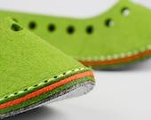 Designer Made Felt Slippers