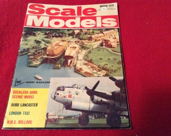 Scale models Hobby Magazines-March 1970 Issue.