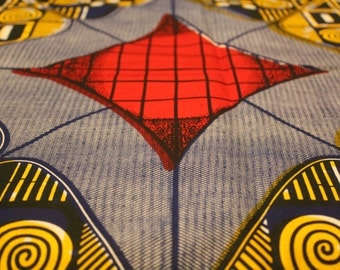 African print 100% cotton fabric (sold by the yard).