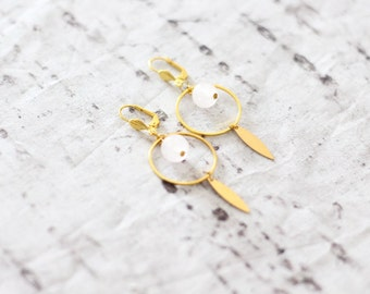 Alba - Quartz earrings