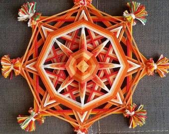 "Mandala Ojo de Dios ""Chakra project - Orange"""