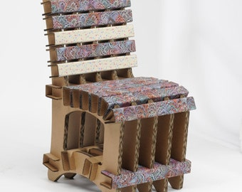 eco-friendly and recycled cardboard Chair disassembled