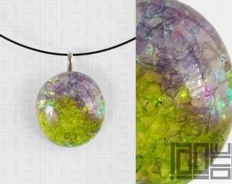 Handmade unique - LaoOne - purple/green