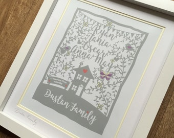 Personalised Family Print , New Home, Birthday, Wedding gift