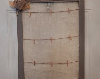 Clothes Line Recycled Wooden Picture Frame