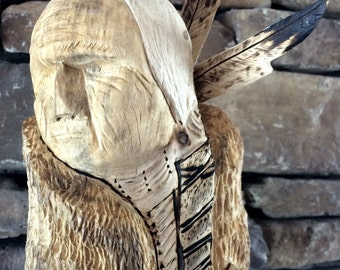 Carved Cottonwood Old Man Yellow Horse