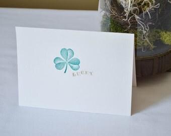 Shamrock Card // Handmade Shamrock Card // St. Patrick's Day Card