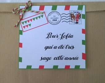 1 packet customizable Christmas present, letter from father Christmas 2 sizes
