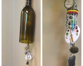 Be Creative Handmade Wine Bottle Wind Chime