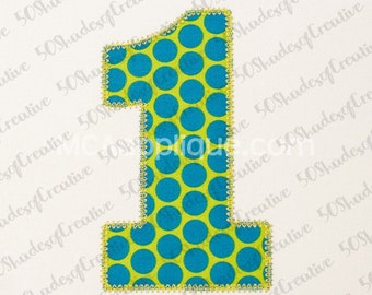 Chunky Numbers Applique