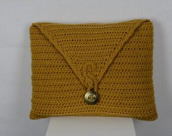 Crochet Gold Pillow Cover