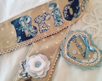Bridal Sash and Badge