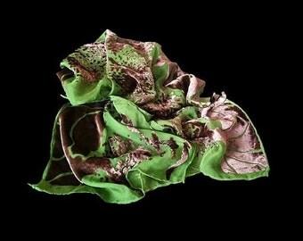 Scarf silk handmade