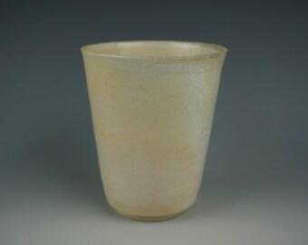 Tumbler - Anagama Wood Fired - Babu Porcelain - Raw Ash Glaze