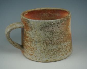 Mug - Anagama Wood Fired - Raw Ash Glazing and Flashing