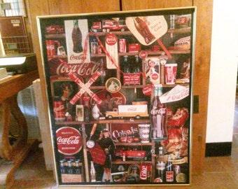 Framed Coca-cola puzzle picture!