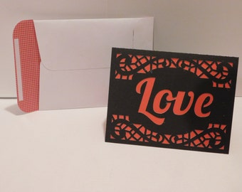 Love forever Valentine's day card, masculine,