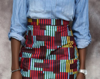 African print classy pencil skirt, african skirt, african clothing, african dress, the african shop, african wedding dress, african outfit