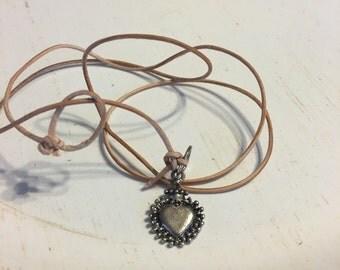 Light tan lesther wrap bracelet