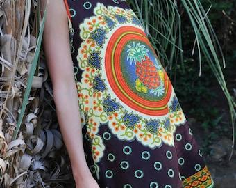 A-line shaped tropical dress