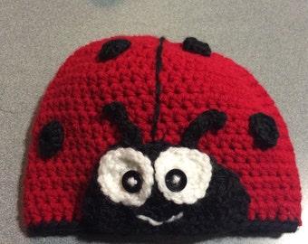 Child sized ladybug hat