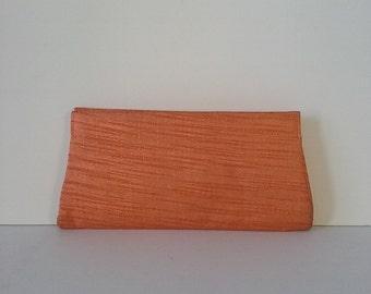 Vintage Mid Century Orange Clutch Evening Bag