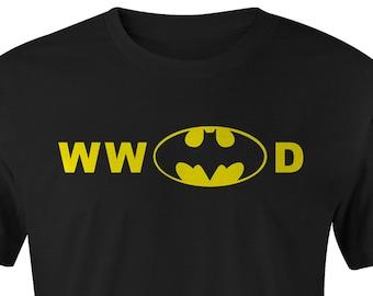 Batman T-shirts, WW Batman D T-shirt, Batman T-shirt, Batman Tee, Batman T-shirts, Batman Tees, Batman, DC Batman, What Would Batman DO