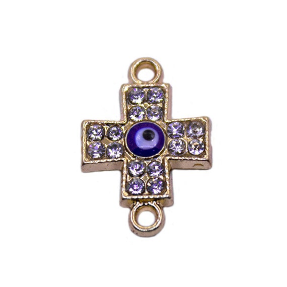 24k gold plated evil eye cross charm cross pendant gold cross 24k gold plated evil eye cross charm cross pendant gold cross pendant rhinestone cross catholic charms evil eye jewelry protection from aloadofball Images
