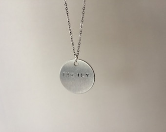 TBH ILY Hand-Stamped Necklace