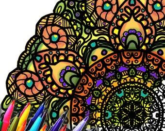 Mandala Coloring Page Printable Download - Byzantine