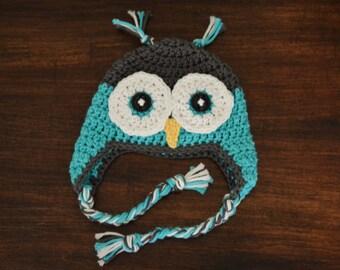 Avery the Owl Crochet Hat