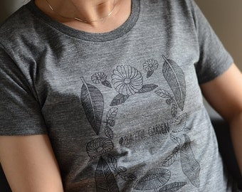 "Half sleeves t-shirts ""peaceful garden"""