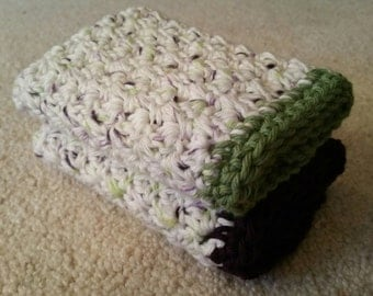 Crochet Super Soft Washcloths - 100% Cotton