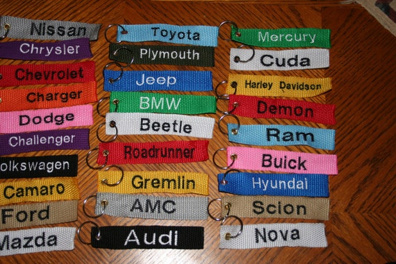 Keychains & Keyrings Personalized and Made to Order!