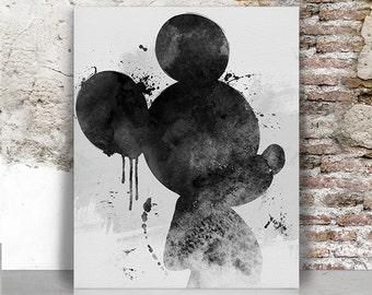 Mickey art print, Mickey painting watercolor poster, Disney watercolor Art print, Mickey mouse art poster, Wall art, Gift, FamouStars