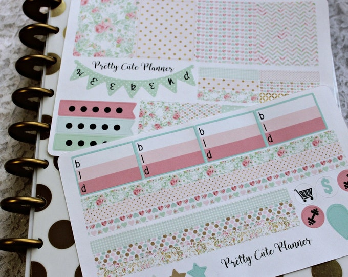 Planner Stickers - Weekly Planner Sticker Set - Erin Condren Life Planner - ECLP - Happy Planner - Day Designer - Functional- Spring Flower