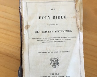 Collectible Holy Bible 1800's