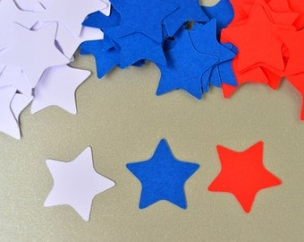 Star Confetti Patriotic Confetti Party Decor Fourth of July Party  Red White and Blue Star Patriotic Party Decorations
