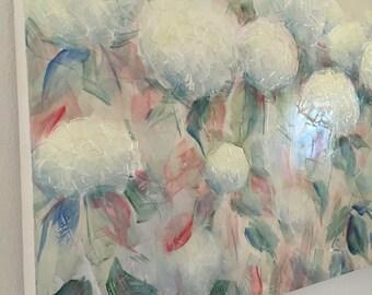 60 x 120 cm floreal hidrangeas modern flowering hydrangeas light