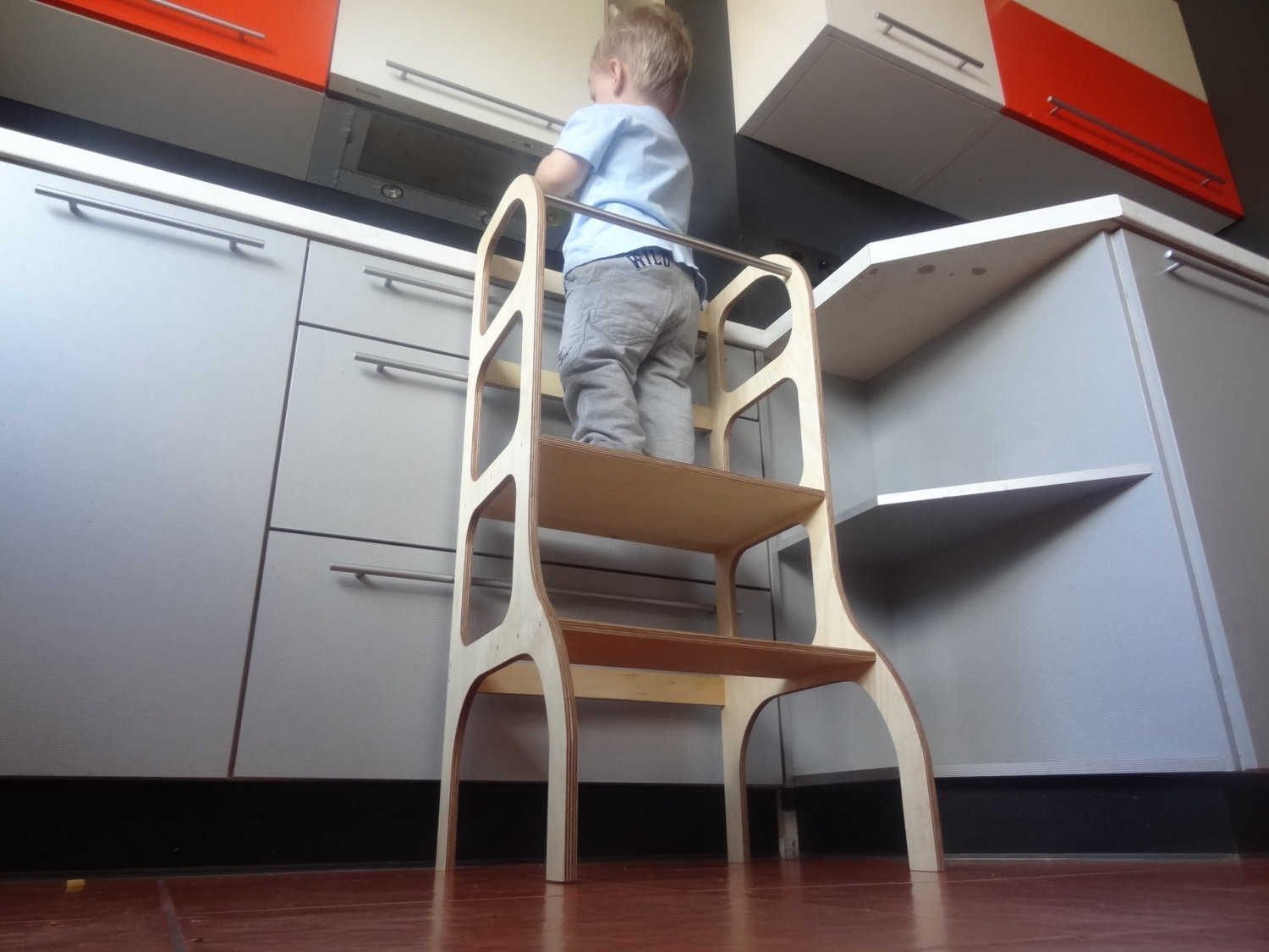 Toddler Step Stool Kitchen Helper Learning Tower By Ettetete