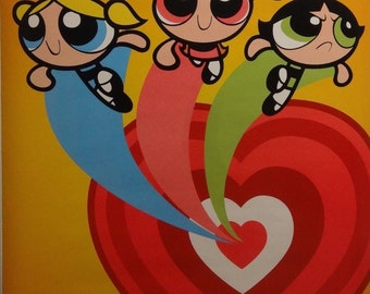 Power Puff Girls 22x34 Love Animated Poster Cartoon Network