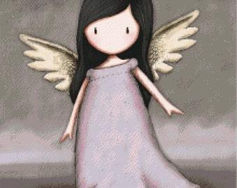 "Cross Stitch Pattern: ""Gorjuss Angel"""