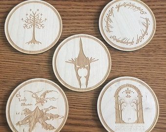 Lord Of The Rings coaster set (set of 5)