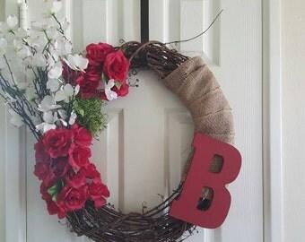 Roses/Floral Front Door Wreath