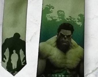 The Hulk Green Necktie