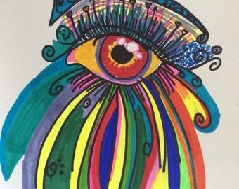 Bright Eye print