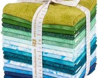 Courtyard Textures, COOL Colorstory Fat Quarter bundle for Robert Kaufman fabric