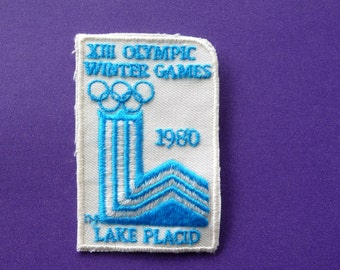 XIII Olympic Winter Games  --  Old 1980 Lake Placid New York Olympics Souvenir Patch