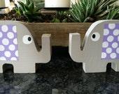 Wood Elephants for Nursery Decor or Kids Room Decor Animal Themed Nursery