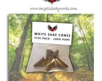 Native Californian White Sage Smudge Cones - Pack of 5 Cones